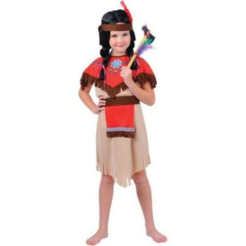 Girls Native Indian Squaw Fancy Dress Costume (Age 8 - 10)